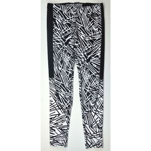 Nike Leg-A-See Printed Tights Pant Black White NWD